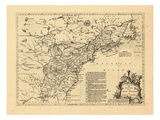 1755, British and French Settlements, United States Giclee Print