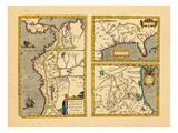 1612, Florida, Texas, Colombia, Ecuador, Peru Giclee Print