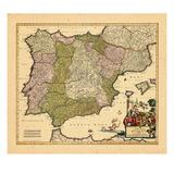 1689, Portugal, Spain Giclee Print