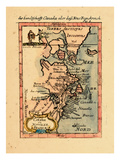 1686, Connecticut, Greenland, Maine, Massachusetts, New Brunswick, New Hampshire Giclee Print