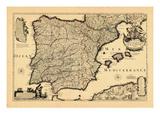 1713, Portugal, Spain Giclee Print