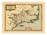 1734, Florida, Georgia, North Carolina, South Carolina, Virginia, Florida Giclee Print
