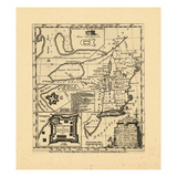 1755, New England, Connecticut, Maine, Massachusetts, New Hampshire, Rhode Island, Vermont Giclée-Druck