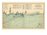 1893, United States Coast Survey - Niantic Bay to Rocky Point - Long Island Sound, Connecticut, Uni Giclee Print