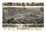 1885, Birmingham Bird's Eye View, Alabama, United States Giclee Print