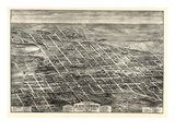 1903, Anniston Bird's Eye View, Alabama, United States Giclee Print
