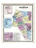1868, Griswold Town, Hopeville, Glasko, Doaneville, Connecticut, United States Giclee Print