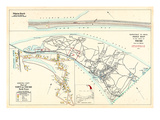 1905, Pilgrim Beach, Truro Town - Truro North, Truro Town Index Map, Massachusetts, United States Giclee Print