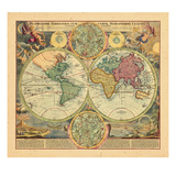 1730, World Giclee Print