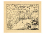1671, Connecticut, Maine, Massachusetts, New Hampshire, New Jersey, New York Giclee Print