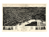 1887, Selma Bird's Eye View, Alabama, United States Giclee Print
