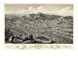 1888, Anniston Bird's Eye View, Alabama, United States Giclee Print