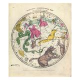 1835, Circumpolar Map Northern, Constellations Giclee Print