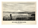 1878, Tacoma and Mount Rainier Bird's Eye View, Washington, United States Giclee Print