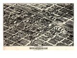 1903, Birmingham Bird's Eye View, Alabama, United States Giclee Print