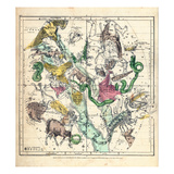 1835, Constellations July - September Giclee Print