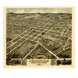 1871, Huntsville Bird's Eye View, Alabama, United States Giclee Print