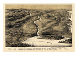 1860s, District of Columbia and Potomac River Bird's Eye View, District of Columbia, United States Giclee Print
