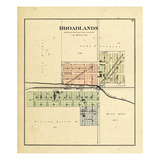 1893, Broadlands, Illinois, United States Giclee Print