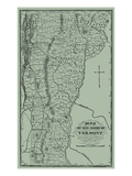 1870, Vermont State Map 1859, Vermont, United States Giclee Print