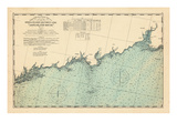 1893, Coast Survey, Norwalk Islands, Southwest Ledge, Long Island Sound, Connecticut Giclee Print