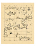 1661, Maine, Massachusetts, New York, Connecticut, Maine, New Hampshire, Rhode Island, Vermont Giclee Print
