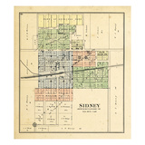 1893, Sidney, Illinois, United States Giclee Print