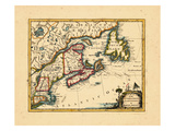 1755, Connecticut, Maine, Massachusetts, New Brunswick, New Hampshire, Newfoundland and Labrador Giclee Print