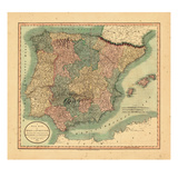 1807, Portugal, Spain Giclee Print