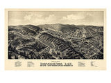 1888, Hot Springs Bird's Eye View, Arkansas, United States Giclee Print