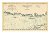 1893, United States Coast Survey - Southwest Ledge to Niantic - Long Island Sound, Connecticut, Uni Giclee Print