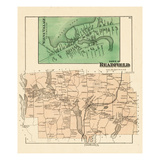 1879, Readfield, Wayne, Maine, United States Giclee Print