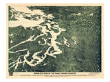 1891, Puget Sound Bird's Eye View, Washington, United States Giclee Print