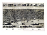1887, Memphis Bird's Eye View, Tennessee, United States Giclee Print