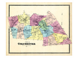 1868, Colchester Town, Connecticut, United States Giclee Print