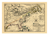 1702, United States, New York, Canada, Pennsylvania, Virginia, North Carolina Giclee Print