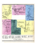 1869, North, South, East, West Woodstock, Connecticut Giclee Print