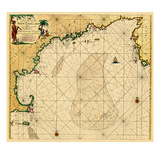 1684, Connecticut, Maine, Massachusetts, New Hampshire, Rhode Island, Vermont Giclee Print