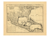 1719, Mexico, Caribbean, United States, West Indies, Central America Giclee Print