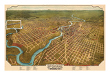 1905, Spokane Bird's Eye View, Washington, United States Giclee Print