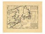 1736, Newfoundland and Labrador, Nova Scotia Giclee Print