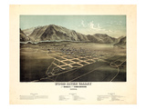 1884, Hailey Bird's Eye View, Idaho, United States Giclee Print