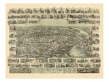 1895, Rockville Bird's Eye View, Connecticut, United States Giclee Print
