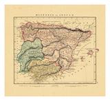 1828, Portugal, Spain Giclee Print
