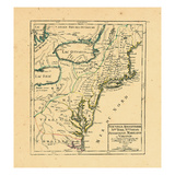 1749, Connecticut, Maine, Maryland, Massachusetts, New Hampshire, New Jersey, New York, North Carol Giclee Print