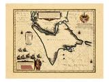 1662, Argentina, Chile, América del Sur Lámina giclée