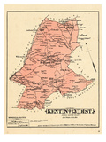 1878, Prince George County - District 13 - Kent, Brightseat, Wilson, Suitsville, Buena Vista, USA Giclee Print