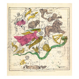 1835, Constellations April - June Giclee Print