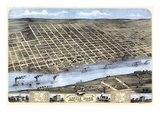 1871, Little Rock Bird's Eye View, Arkansas, United States Giclée-Druck