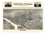 1905, Salem Bird's Eye View, Oregon, United States Giclee Print